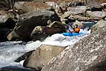 Chris D in his kayak paddling the Lower Rocky Broad (NC).  Copyright Chris Bell.